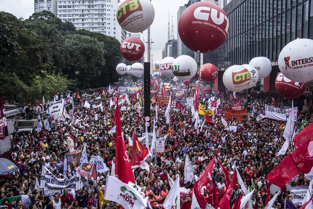 As manifestações contra a reforma da previdência