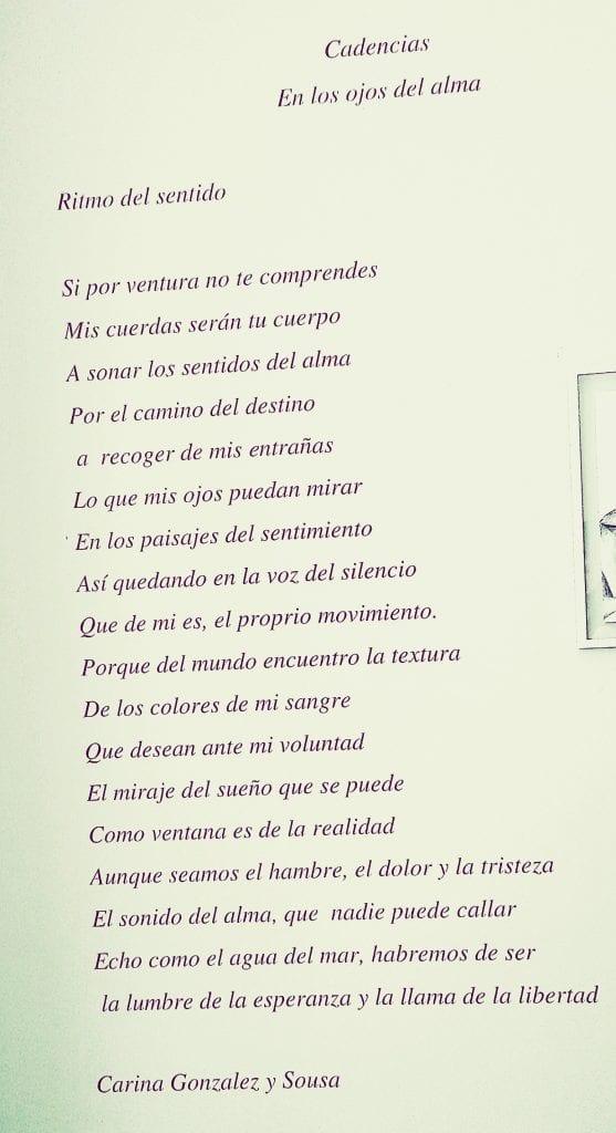 Poema – Ritmo del sentido Foto: Débora Bandeira