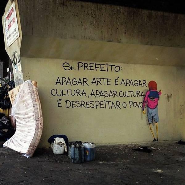 Divulgação/Grafite dos artistas Gêmeos na 23 de maio