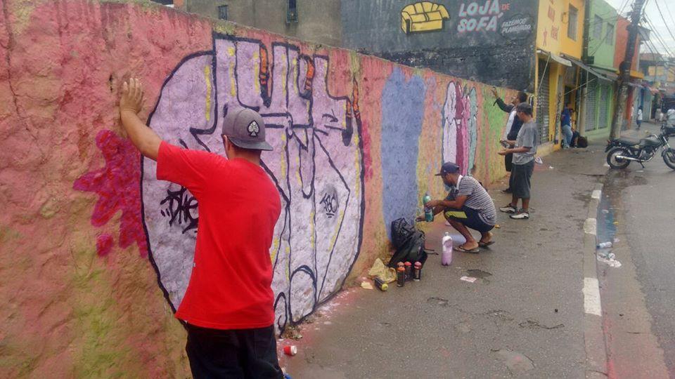 Divulgação/Evento em Guanhanases-SP, Grafite contra o Lixo