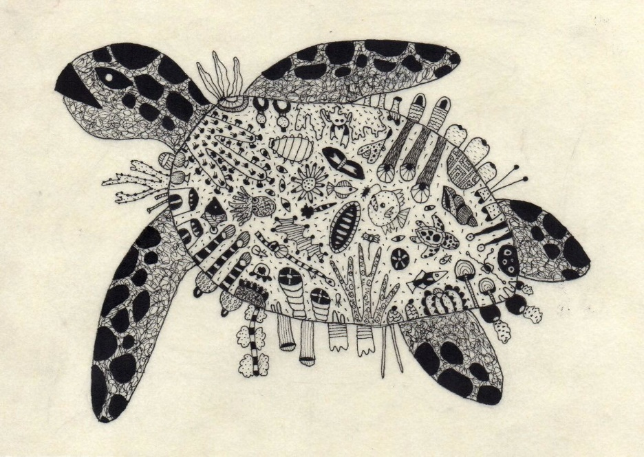 Arte a nanquim de Beatriz Chachamovits.