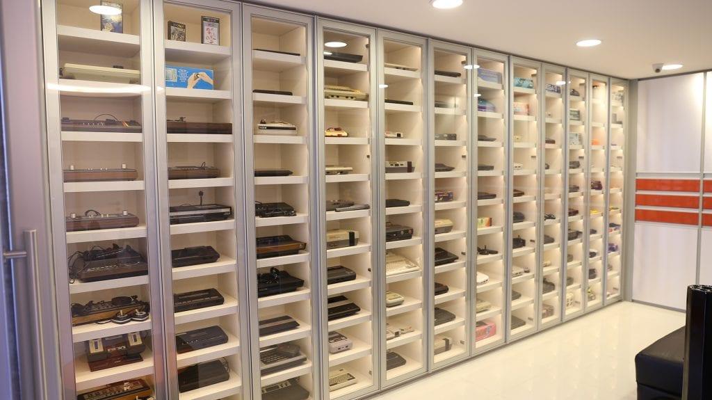 Coleção de consoles do Marcelo Tavares