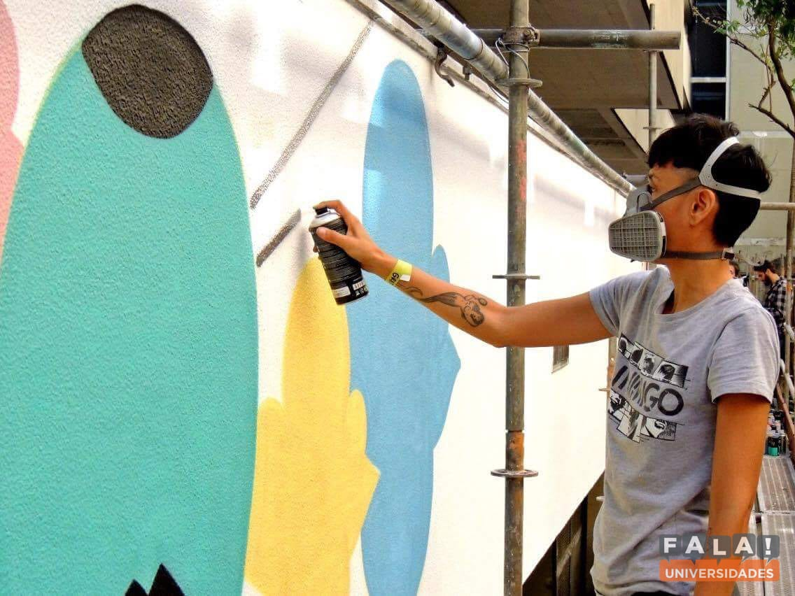 Festival de Cultura promovido na PUC contou com graffiti, rap, break e sarau