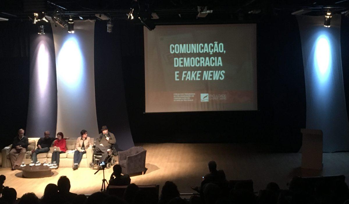 Cobertura Palestra Comunicação, Democracia e Fake News