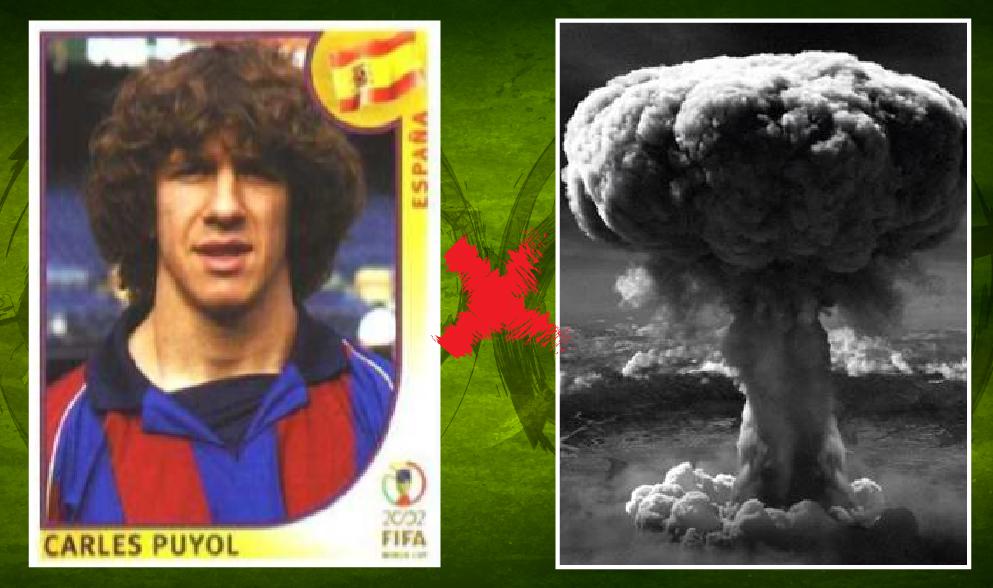 4debdca6a CARLES PUYOL: representou a seleção da Espanha, em 2002, com um cabelo  marcante, de impacto, realmente difícil de esquecer… provavelmente  inspirado na bomba ...
