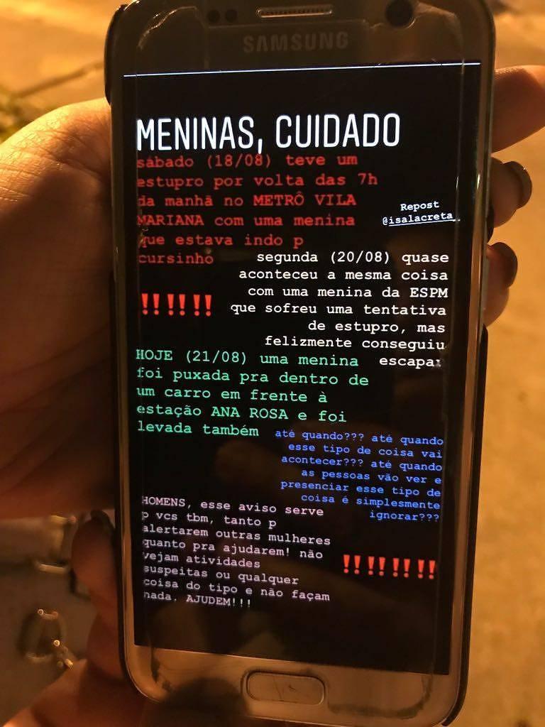 Estupros no metrô de São Paulo: aconteceram, mas não são abordados