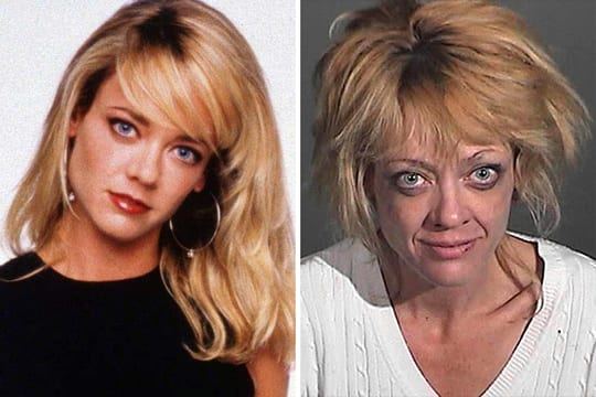Lisa Robin Kelly antes e depois das drogas.