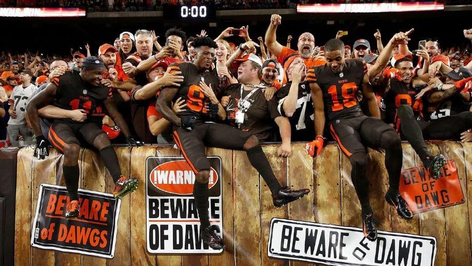 Cleveland Browns: ganhou depois de anos e cidade enlouqueceu