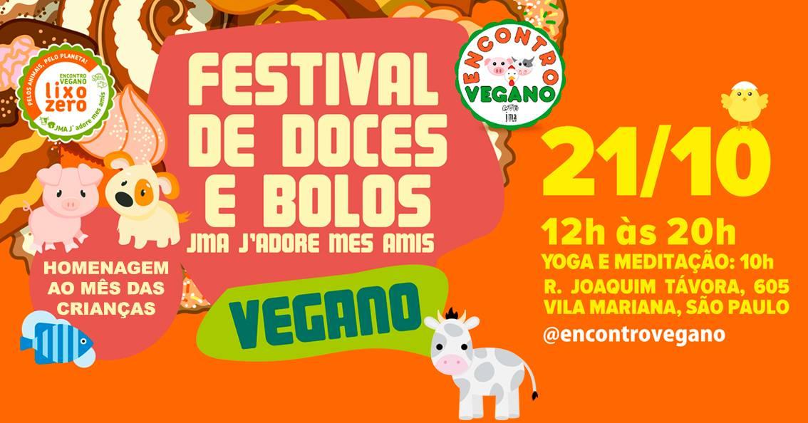 São Paulo: Festival Vegano de Doces e Bolos na Vila Mariana