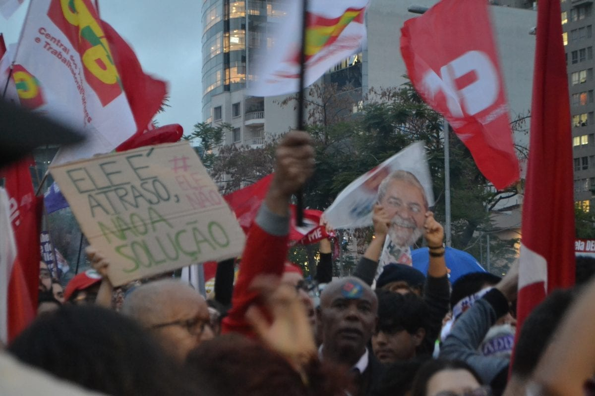 São Paulo: Ato pró Haddad no Largo da Batata