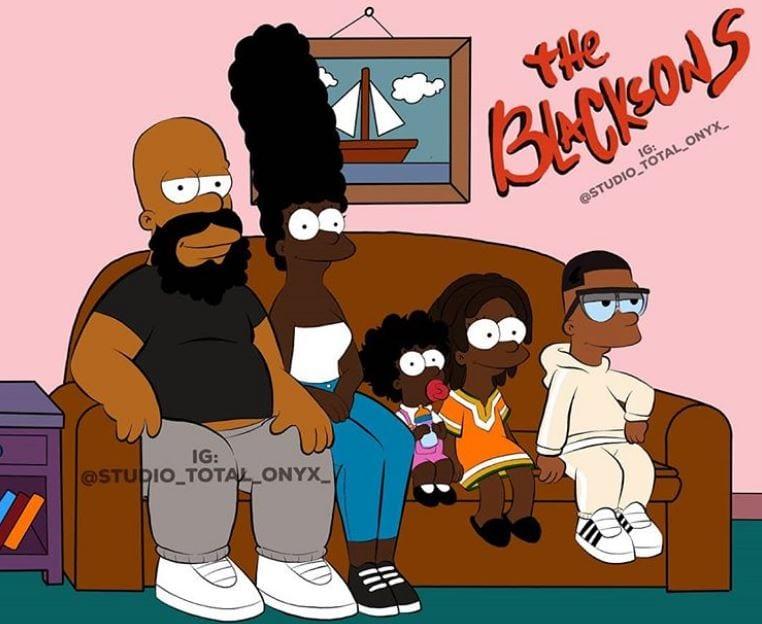Veja como seriam os desenhos mais famosos se eles fossem negros