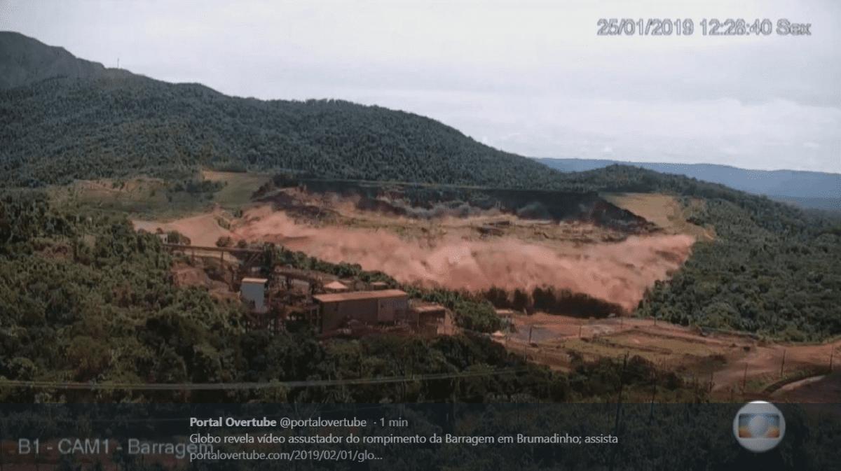 Vídeo mostra momento exato do rompimento da barragem de Brumadinho