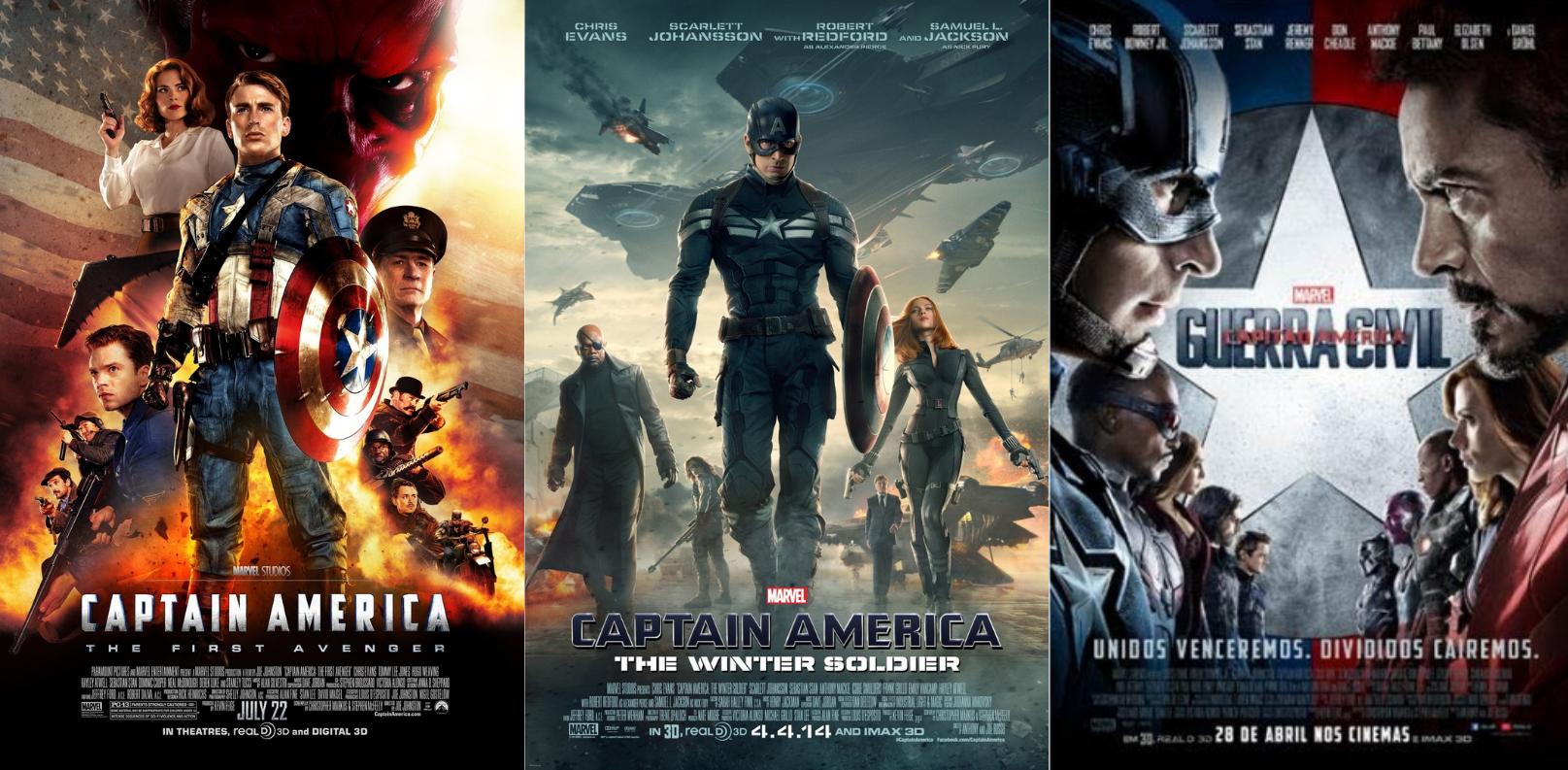 As sequências de Capitão América.