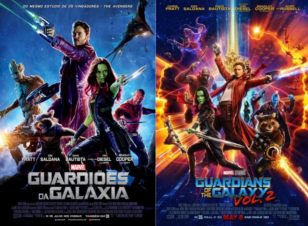 Guardiões da Galáxia e sua sequência.