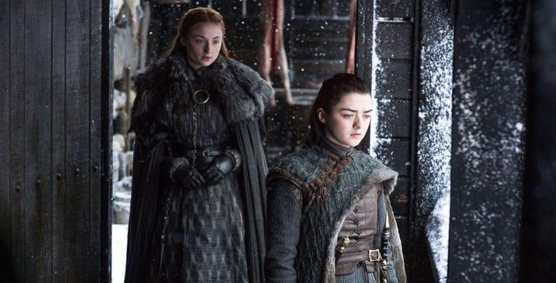 Arya e Sansa serão aliadas poderosas na 8ª temporada de Game of Thrones