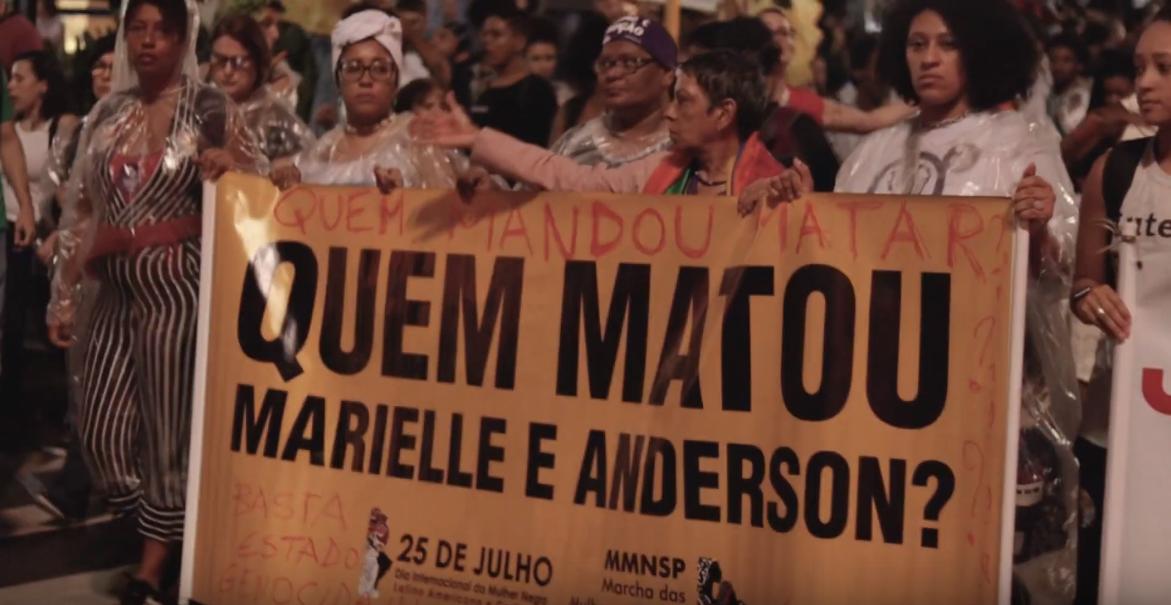 1 Ano sem Marielle: o Ato em fotos e vídeos