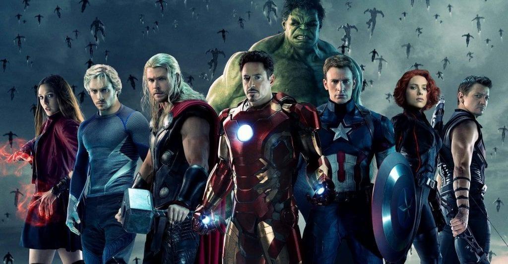 Vingadores: Era de Ultron (2015) reune todos os heróis em um filme.
