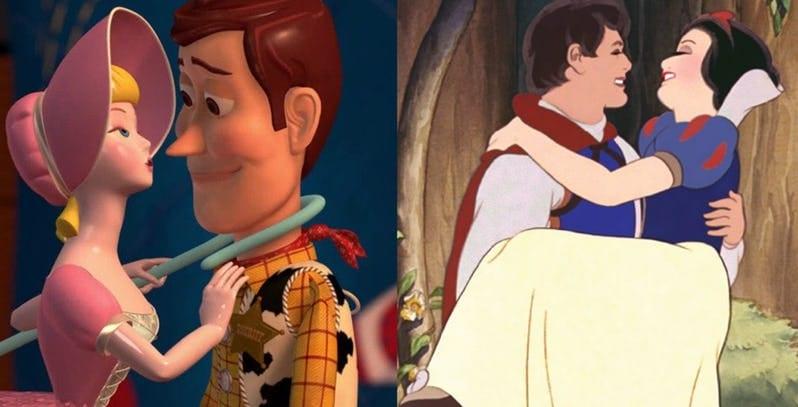 Os melhores e piores casais da Disney