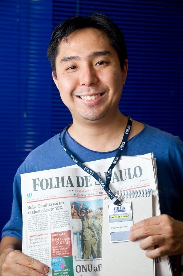 Luciano Abe, de vestibulando de medicina para jornalista de sucesso.