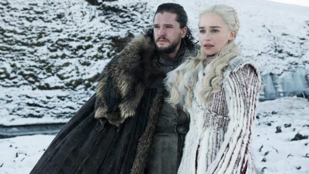 Kit Harington e Emilia Clarke em Game of Thrones