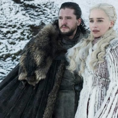 Kit Harington e Emilia Clarke em Game of Thrones