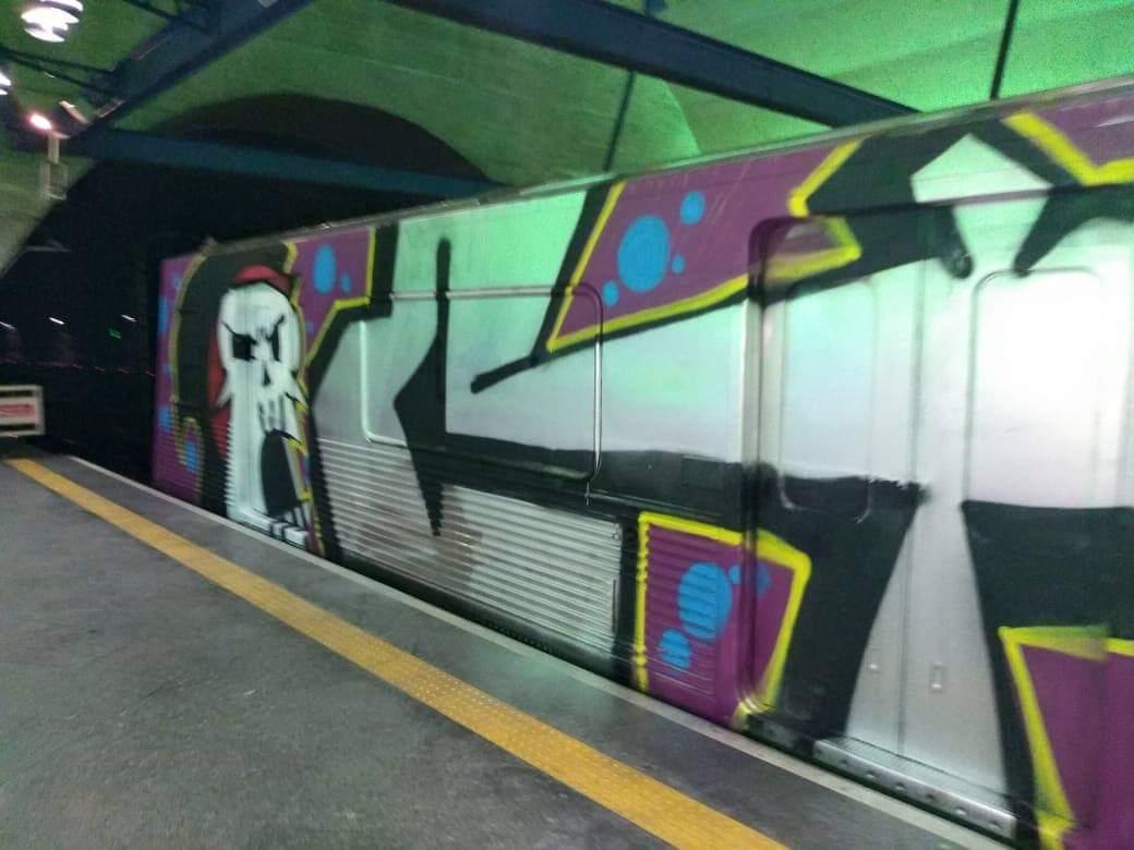 Metrô São Paulo é invadido e tem trens grafitados