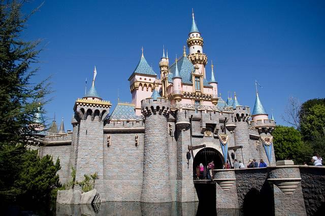Castelo da Bela Adormecida na Disneyland Califórnia