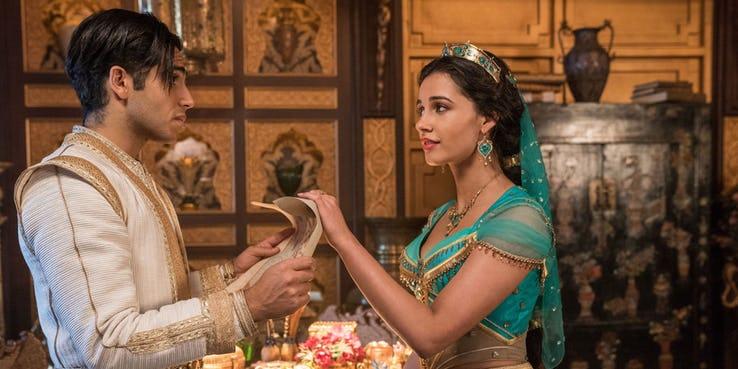 Jasmine e aladdin no live action