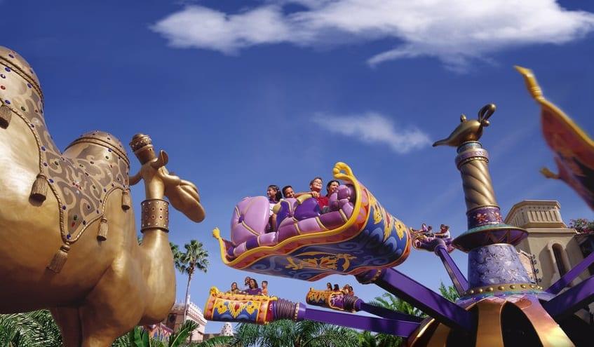Tapete voador de Aladdin na Disney