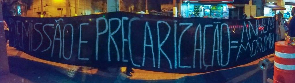 Demissão e Precarização. Foto: Laís Costa