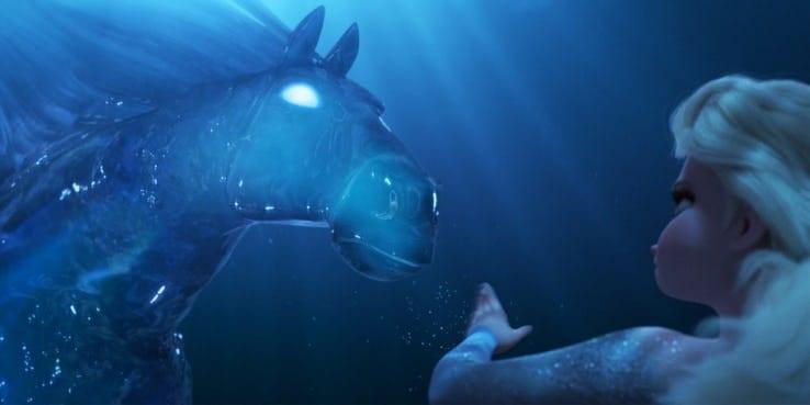 frozen 2 elsa e cavalo