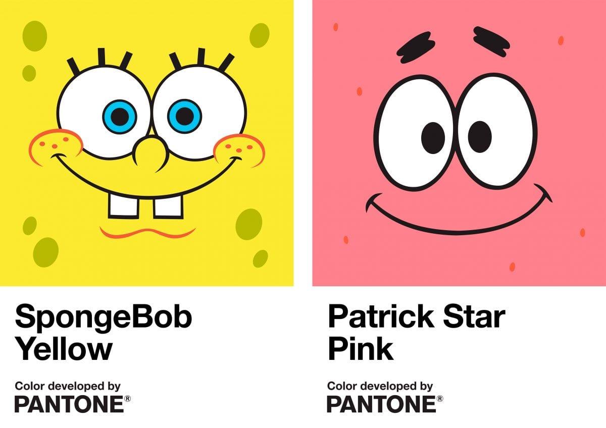 Nickelodeon e Pantone criam cores oficiais de Bob Esponja e Patrick