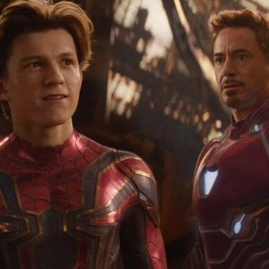 homem aranha e homem de ferro