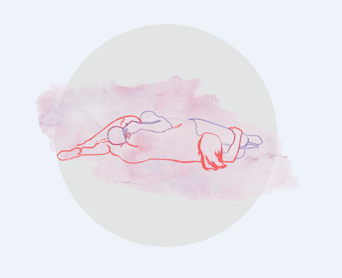 A imagem é o desenho ilustrativo da posição 69