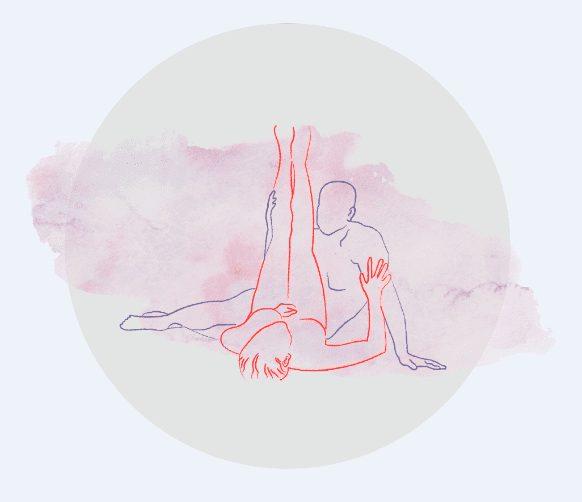 Uma das posições de sexo para amantes que gostam de olho no olho.