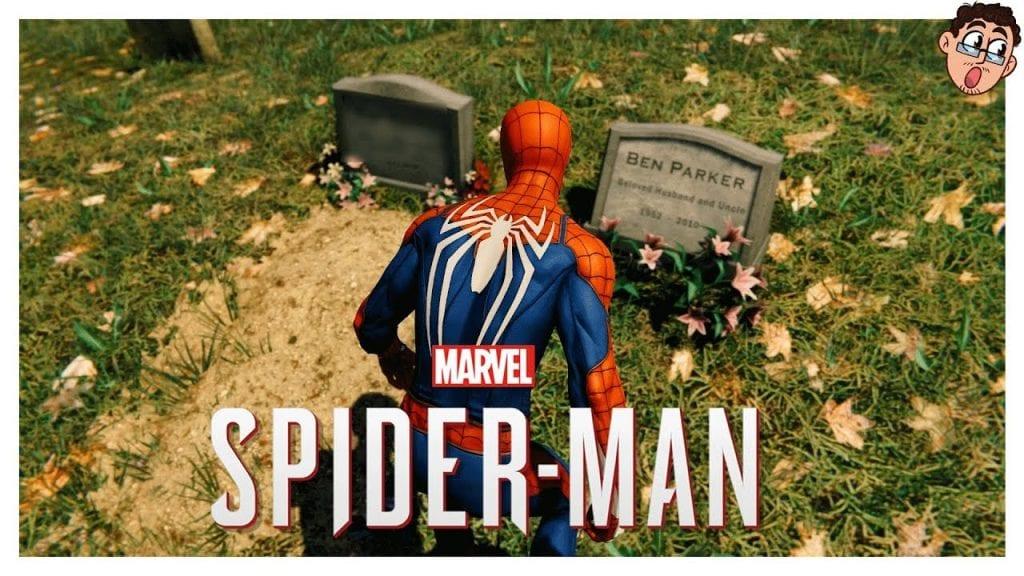 Homem Aranha no túmulo de Tio Ben