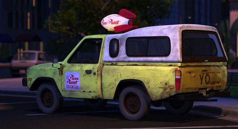 carro do pizza planet da Pixar