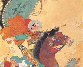 pintura chinesa de Mulan