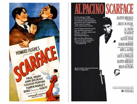 Cartaz de Scarface 1932 e 1983