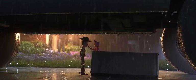 Woody e Betty se despedindo em Toy Story 4