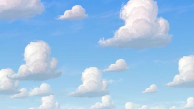 nuvens de papel de parede toy story