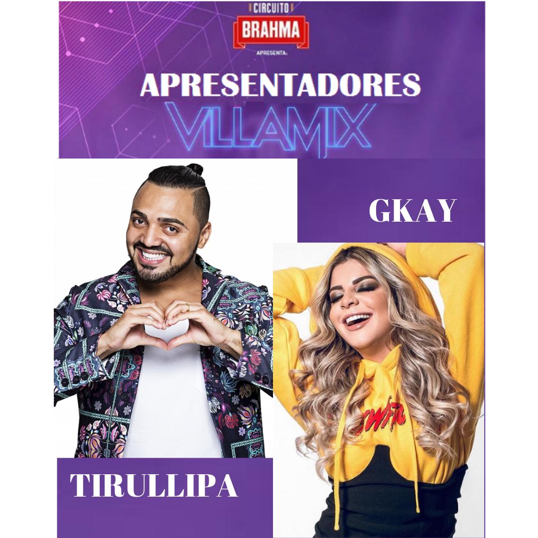 VillaMix Festival Goiânia terá Tirullipa e GKay como apresentadores