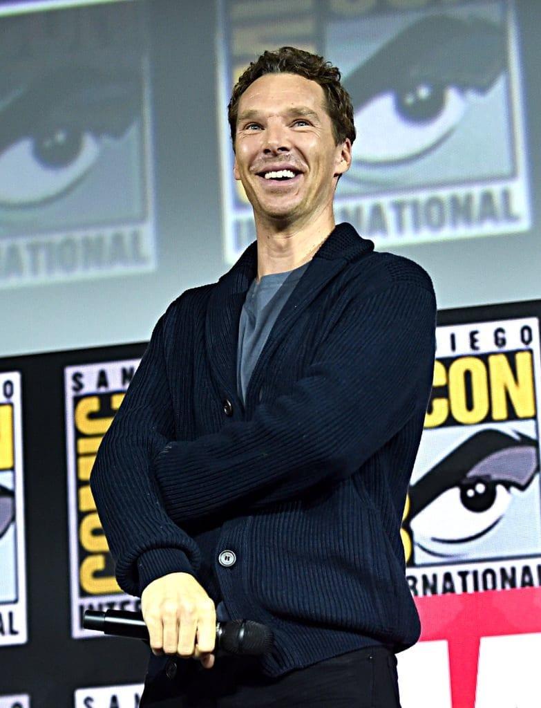 Benedict Cumberbatch no painel Marvel