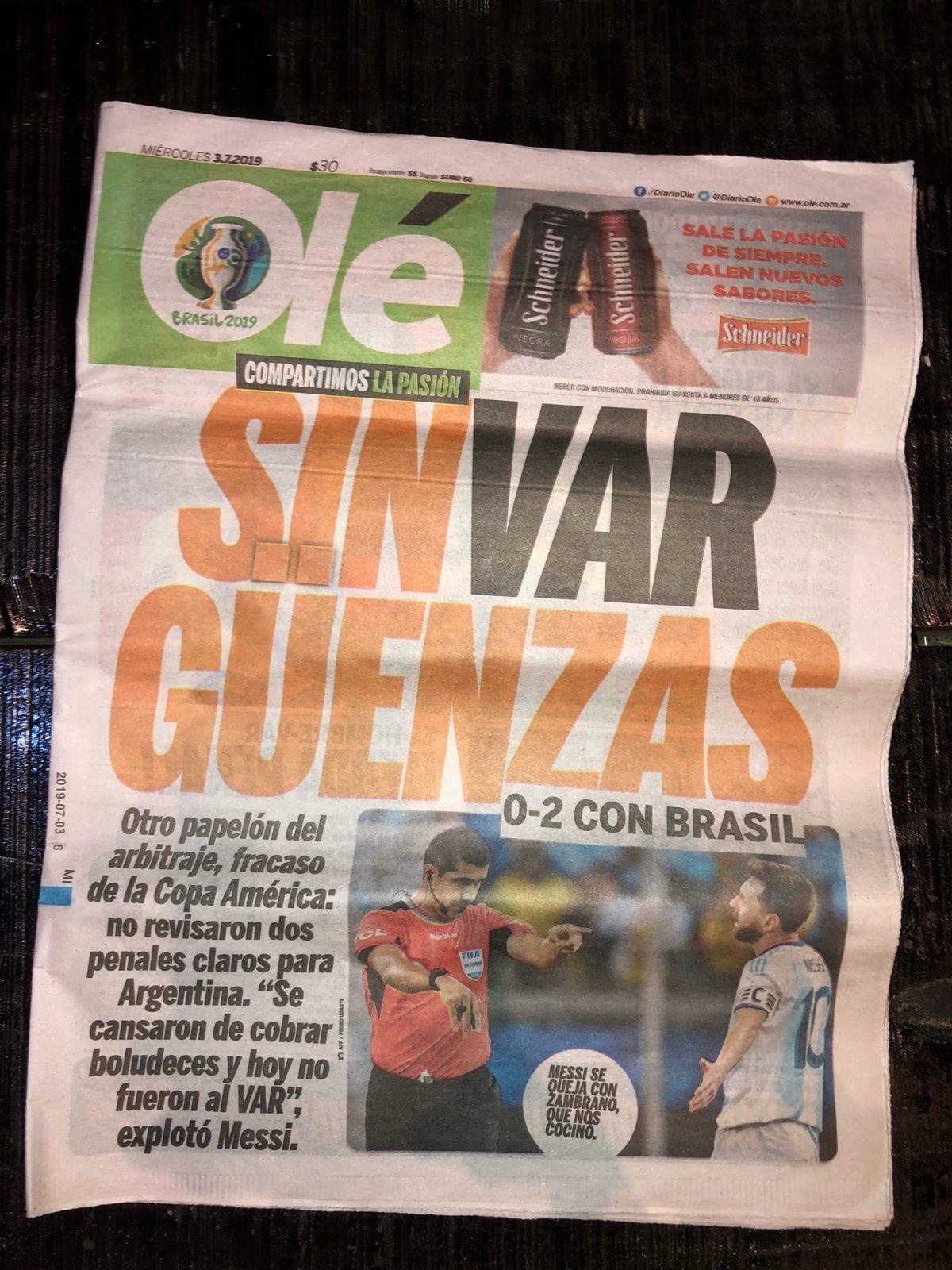 Copa América: Buenos Aires um dia depois da eliminação da Argentina pelo Brasil