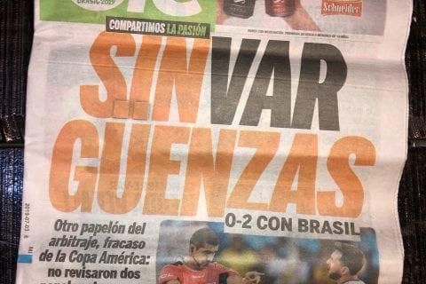 jornal argentino copa america