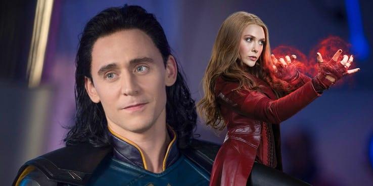 Loki e Feiticeira Escarlate