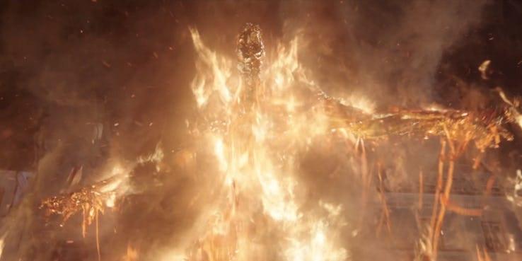 elemental do fogo homem aranha