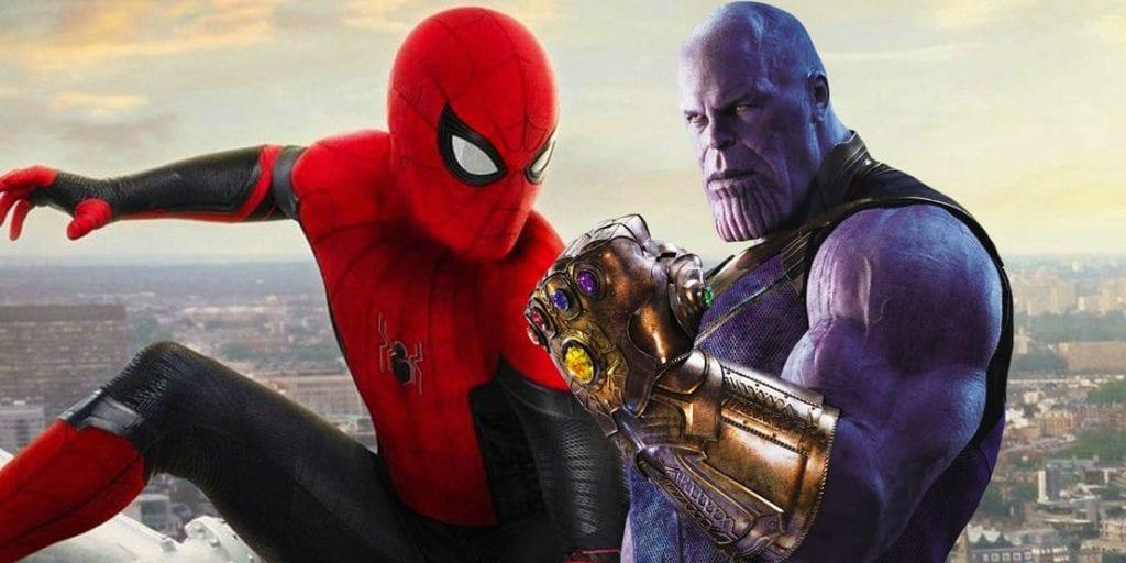 Thanos e Homem Aranha