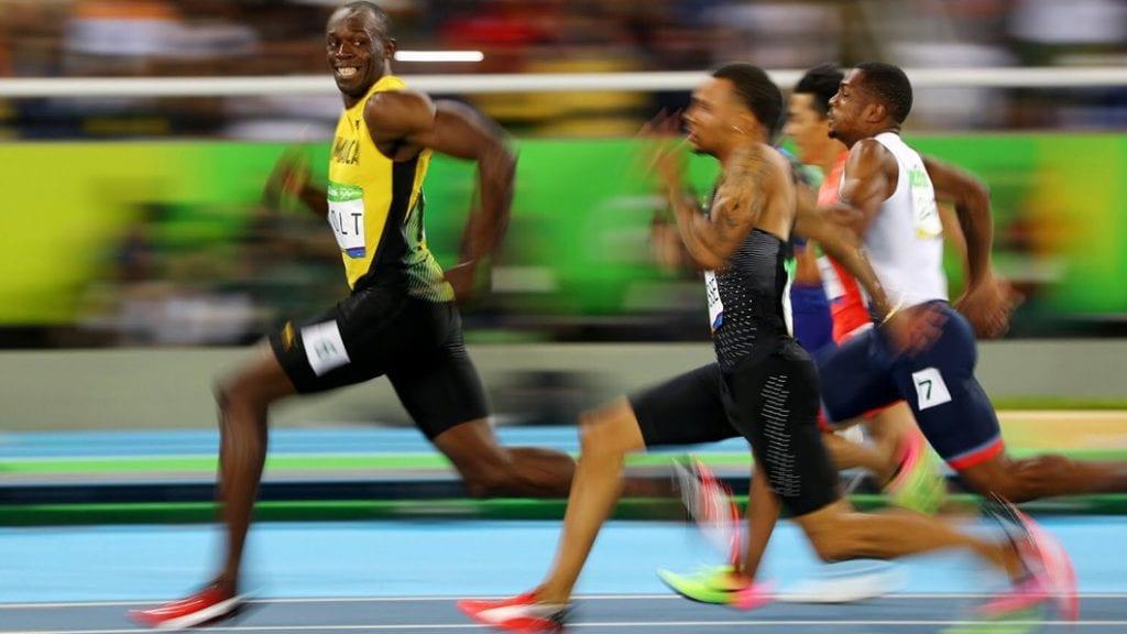 Usain Bolt correndo