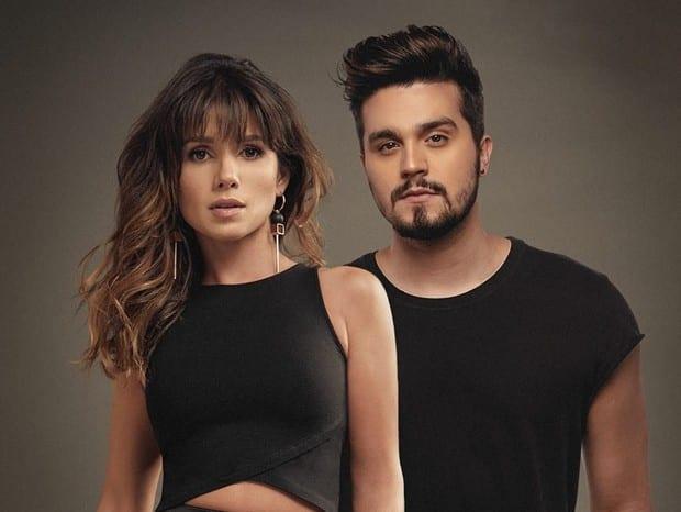 Paula Fernandes e Luan Santana na capa de Juntos e Shallow Now
